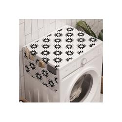 Abakuhaus Badorganizer Anti-Rutsch-Stoffabdeckung für Waschmaschine und Trockner, Einfarbig Zick-Zack-Explosion Formationen