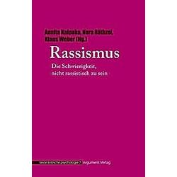 Rassismus. Klaus Holzkamp  Philip Cohen  Ute Osterkamp  - Buch