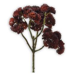 Kunstblume Fetthenne Kunstpflanze Dekopflanze 1 Stk 30 cm dunkelrot Fetthenne, matches21 HOME & HOBBY, Höhe 30 cm, Indoor rot