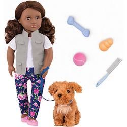 Puppe Malia 46 cm mit Hund