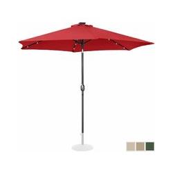 Sonnenschirm mit LED UNI_UMBRELLA_TR300REL Gartenschirm (rund, Ø 300 cm, neigbar, rot) - Uniprodo