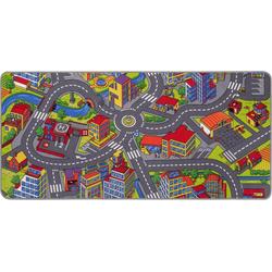 Kinderteppich Straße, Andiamo, rechteckig, Höhe 5 mm, Straßen-Spielteppich, Straßenbreite: 8,5 cm, Kinderzimmer 95 cm x 200 cm x 5 mm