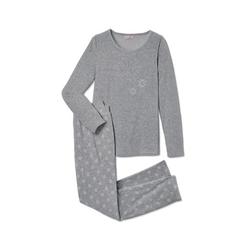 Tchibo - Nicki-Pyjama - Grau/Meliert - Gr.: L