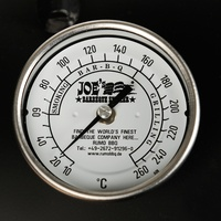 """Joe's Barbeque Edelstahl Thermometer 3"""""""