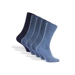 Reslad Langsocken Reslad Business Socken (10 Paar) Damen & Herren (10-Paar) Herrensocken ohne drückende Naht blau 43 - 46