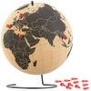 infactory Drehbarer XL Kork-Globus mit 15 Pins zum Markieren, Ø 25 cm