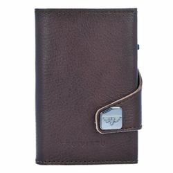 Tru Virtu Click & Slide Etui na karty bankowe Portfel skórzany6,5 cm brown