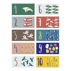 Sebra Puzzle mit Zahlen, 1-10
