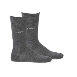 Joop! Kurzsocken Herren Socken 2 Paar, Basic Soft Cotton Sock grau 39-42 (6-8 UK)