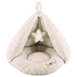 Nobby Komfort Zelt oval Puppy elfenbeinfarben