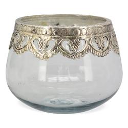 matches21 HOME & HOBBY Kerzenständer Windlichter Teelichtgläser rund 15 cm