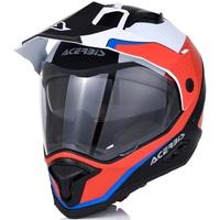 Acerbis Reactive Graffix Motocross Helm, weiss-rot, Größe S