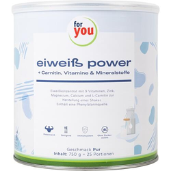 FOR YOU eiweiß power Pur Pulver 750 g