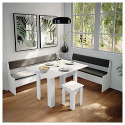 Vicco Sitzgruppe Eckbankgruppe Roman Weiß 210x180cm Esszimmergruppe Eckbank Sitzgruppe