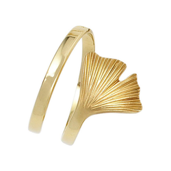 JOBO Goldring Ginko, breit 375 Gold 58