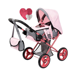 MyToys-COLLECTION Puppenwagen Puppenwagen Pram mit Pailletten, grau von Bayer
