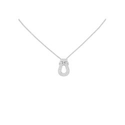 JOBO Collier, 925 Silber mit 64 Zirkonia 45 cm