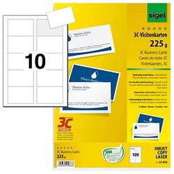 100 SIGEL Visitenkarten LP850 weiß