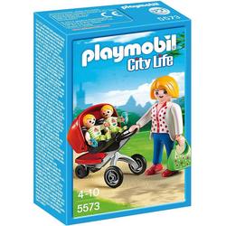 Playmobil® Spielfigur PLAYMOBIL® 5573 Zwillingskinderwagen
