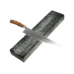CUTTWORXS Wand-Magnet Messer-Leiste Messerleiste PyroStripe Ascheoptik - Magnet-Wandhalter bis zu 6 Messer - Neodymmagnete