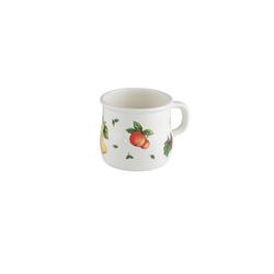 Riess Tasse Topf mit Bördel, bauchig Fruit Garden, Emaille