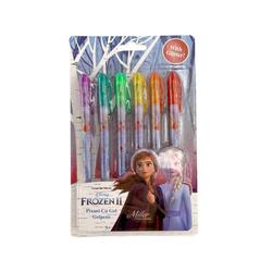 Disney Frozen Kugelschreiber Bunte Gel-Stifte Gelschreiber mit Glitter, 1 Set, 6 Farben
