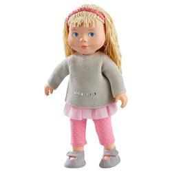 Haba Anziehpuppe 304889 Spielpuppe Elisa, 32cm weiche Puppe mit Kopf und Gliedmaßen aus Vinyl, weicher Körper, für Kinder 3 Jahren geeignet