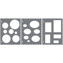 Shape Cutter Schablone Kreise, Ovale, Rechtecke
