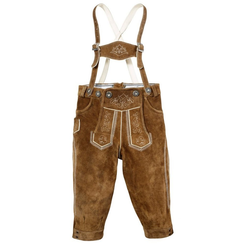 MarJo Trachtenlederhose (2-tlg) Kinder im Knickerbocker-Style 134