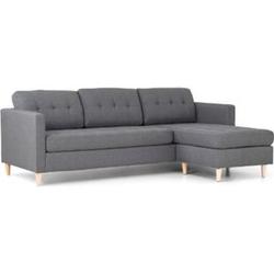 Ecksofa Mars grau Stoffsofa Eckgarnitur Couchgarnitur Couch Sofa Wohnlandschaft