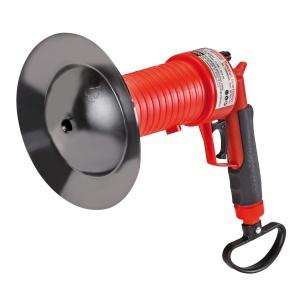 ROTHENBERGER Industrial Pressluft Rohrreiniger inkl. 4 Aufsätze, Pressluft-Reiniger mit integrierter Handpumpe, 1 Pressluft Rohrreiniger, 4 Gummiadapter