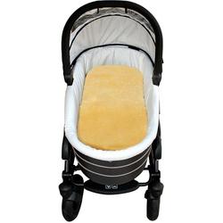 Babylammfell Lammfell-Einlage, Heitmann Felle, ideal geeignet als Einlage für Soft-Tragtasche, Kinderwagen, Buggy, Kinderbett etc., besonders weich, waschbar beige