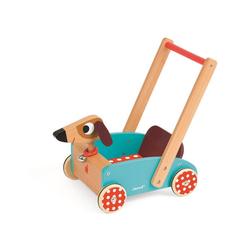 Janod Lauflernwagen Wagen Hund Crazy Doggy (Holz)