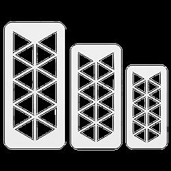 PME Geometrischer Mulitschneider Dreick 3 Stück