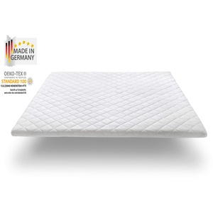 Nova Sleep Gel-Topper 140x200 cm Gelschaumtopper H2-H3, Premium Höhe 7 cm, RG 32, 300 Gramm Anti Allergische Watte