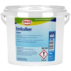 WECO Entkalker Pulver, Entfernt zuverlässig Kalkablagerungen an gewerblichen Geschirrspülmaschinen, 5 kg - Eimer