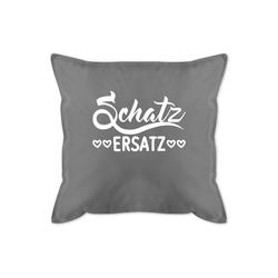 Shirtracer Dekokissen Schatzersatz - weiß - Bedrucktes Kissen mit Füllung