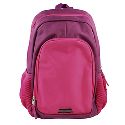 DONAU Kindergartenrucksack   Kunstfaser pink