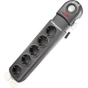 APC by Schneider Electric PL5B-DE Überspannungsschutz-Steckdosenleiste 5fach Anthrazit, Grau Schutz