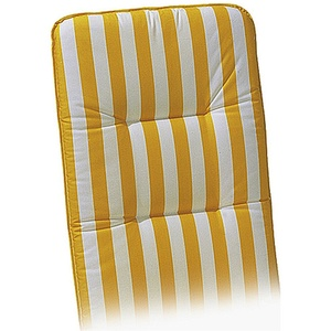 Niederlehner-Auflage Basic-Line 100 x 50 x 6 cm Gelb-Weiß D.0270