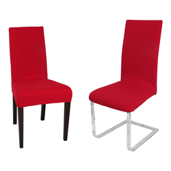 Stuhlhusse Venedig Stuhlhusse, elastische Stretch Husse Bi-Elastic Bi-Strech, Farbe wählbar, Beautex rot
