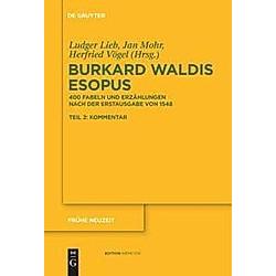 Burkard Waldis: Esopus - Buch