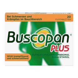 Buscopan® PLUS Filmtabletten 20 Stück bei Bauchschmerzen 20 St