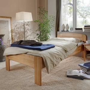 Seniorenbett aus Buche Massivholz 80 cm Kopfteil