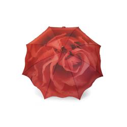 ROSEMARIE SCHULZ Heidelberg Stockregenschirm Stockschirm Motiv Rose Regenschirm für Damen, Mit Motiv rot