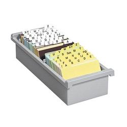 HAN   Karteikasten DIN A7   für 1.300 Karteikarten grau ohne Deckel