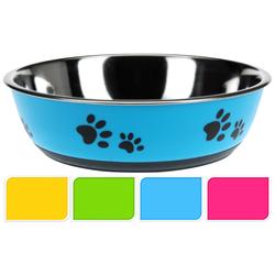 Hunde Fressnapf - gummierte Unterseite 22cm Antirutsch Napf Futternapf Hundenapf