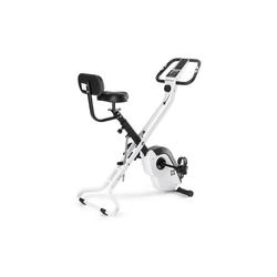 Capital Sports Fahrradtrainer Azura X2 X-Bike bis 120 kg Pulsmesser klappbar weiß weiß