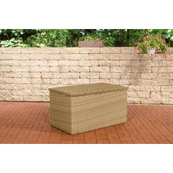 CLP Auflagenbox Auflagenbox 5mm, Gartentruhe für Kissen und Auflagen natur