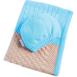 Babydecke Patchwork, SEI Design, in Patchworkoptik blau